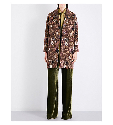ETRO Floral-patterned wool-blend coat (Multi