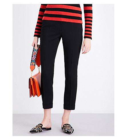 ETRO Straight high-rise crepe cigarette trousers (Black