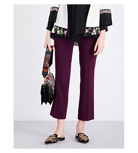ETRO Straight crepe trousers (Purple