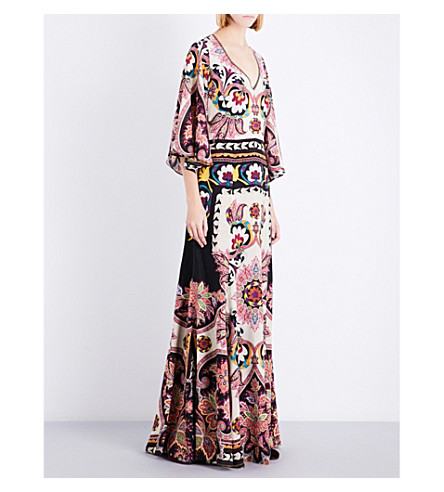 ETRO Paisley-print silk maxi dress (Multi