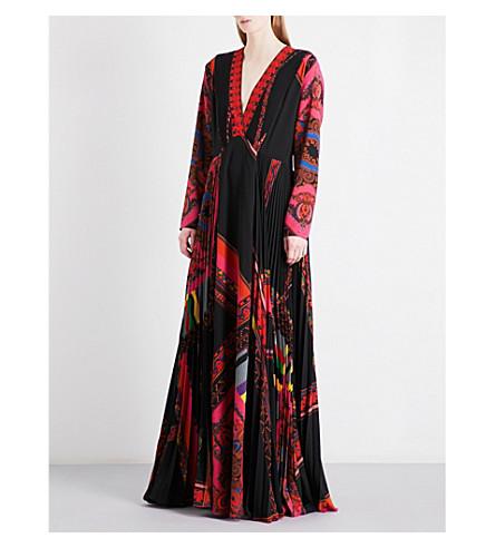 ETRO Paisley-print crepe gown (Black