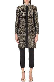 ETRO Jacquard cocoon coat