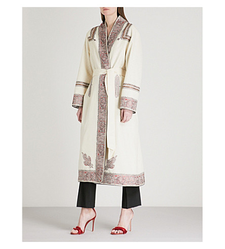 ETRO Paisley-panel jacquard coat (White
