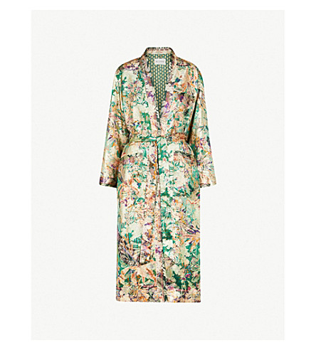 ETRO Paisley-pattern silk-jacquard wrap coat (Green