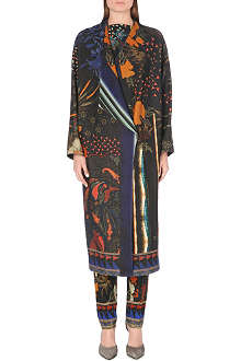 ETRO Multi-print wool coat