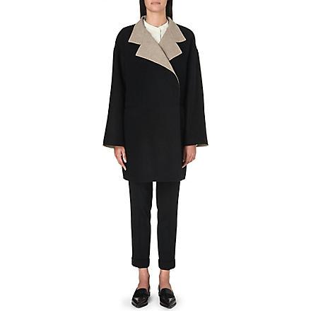 ETRO Streamlined wrap coat (Multi