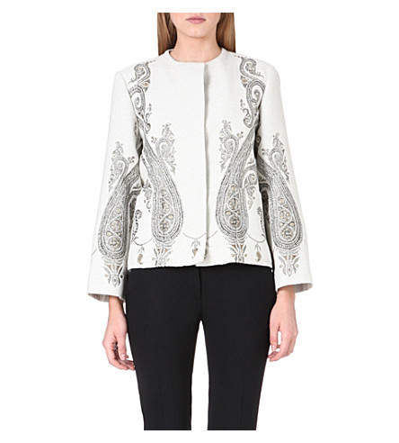 ETRO Embroidered brocade jacket (White