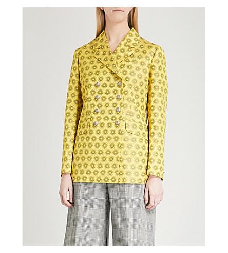 ETRO Mandala-jacquard double-breasted jacket (Yellow