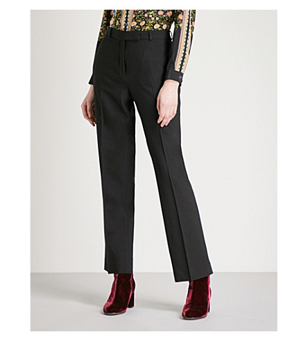 ETRO Cady crepe trousers (Black