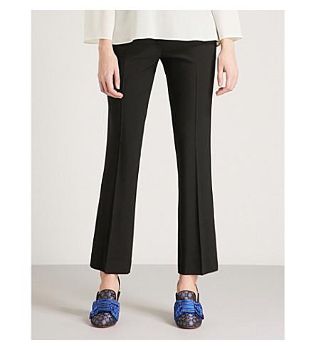 crepé rectos de Pantalones negros altura ETRO de gran Tg6tZ
