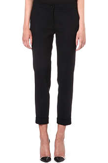 ETRO Tapered stretch-wool trousers