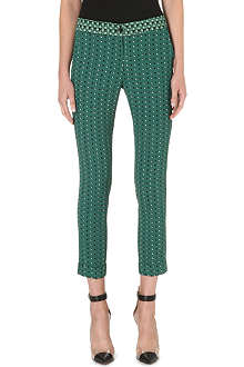 ETRO Slim-fit straight printed trousers