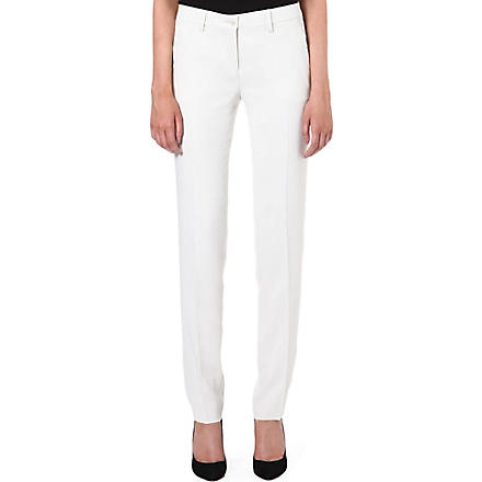ETRO Straight stretch-cupro trousers (White