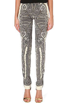 ETRO Paisley-print slim-fit trousers