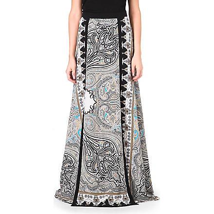 ETRO Paisley-print silk maxi skirt (Multi