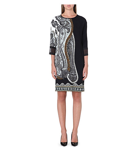 ETRO Paisley-print silk dress (Multi