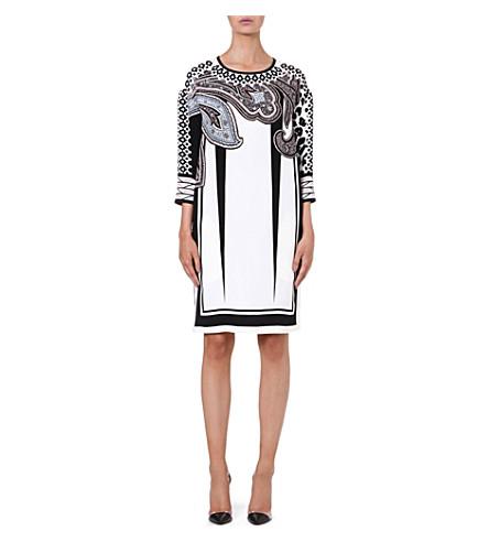 ETRO Printed silk dress (Multi