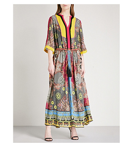 ETRO Printed silk-georgette maxi dress (Multi