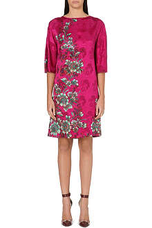 ETRO Floral-brocade silk dress