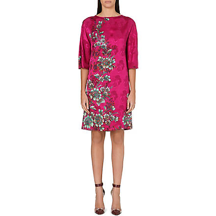 ETRO Floral-brocade silk dress (Pink