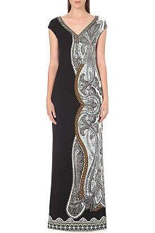 ETRO Paisley-print crepe gown