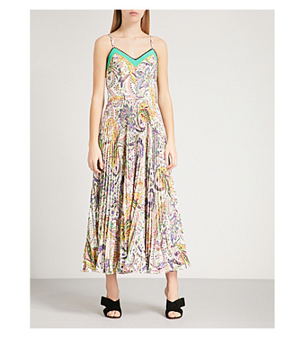 ETRO Paisley-print crepe dress (White+multi