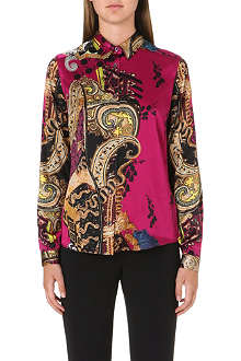 ETRO Printed silk-satin shirt