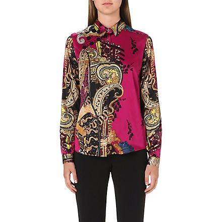 ETRO Paisley-print silk shirt (Pink