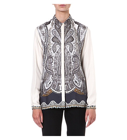 ETRO Printed silk shirt (Multi