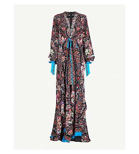 ETRO Patterned silk-crepe maxi dress (Multi