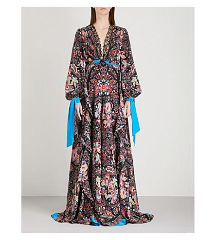 ETRO Patterned silk-crepe maxi dress (Multi