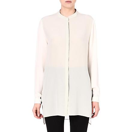 ETRO Mandarin-collar silk shirt (Cream