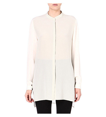 ETRO Mandarin-collar silk shirt (Cream