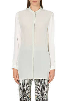 ETRO Mandarin collar silk top