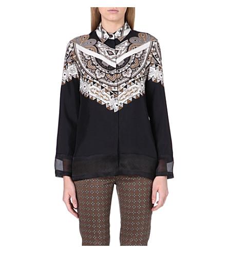 ETRO Printed silk shirt (Multi