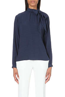 ETRO Tie-neck silk top