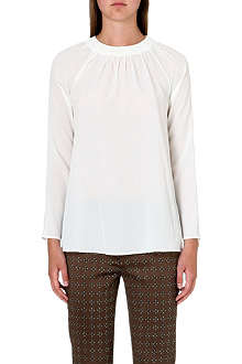 ETRO Round-neck silk top