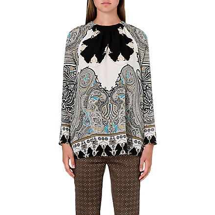 ETRO Paisley-print silk top (Multi