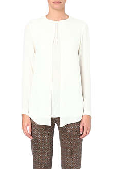 ETRO Pleated-insert silk blouse