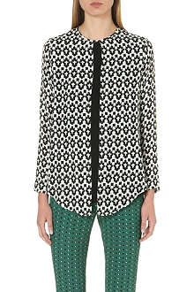 ETRO Houndstooth-print silk top