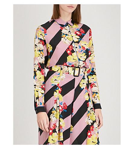 ETRO Printed silk-crepe shirt (Multi