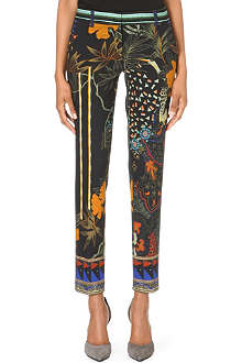 ETRO Slim mid-rise stretch-jersey trousers
