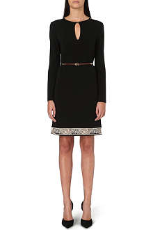 ETRO Belted contrast-hem jersey dress