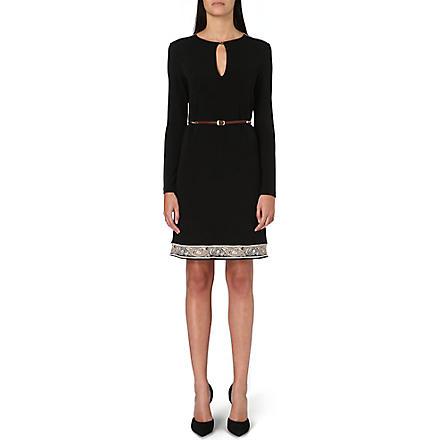ETRO Belted contrast-hem jersey dress (Multi