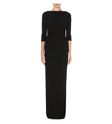 ETRO Ruched jersey maxi dress (Black