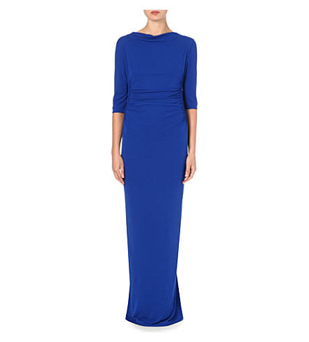 ETRO Ruched jersey maxi dress (Blue
