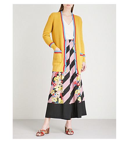 ETRO Striped-trim cotton cardigan (Multi
