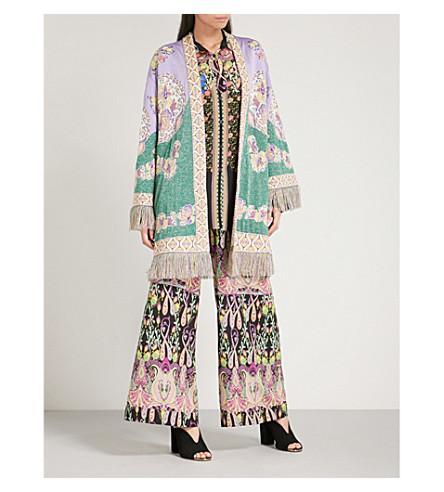 ETRO Idra jacquard kimono (Purple/multi