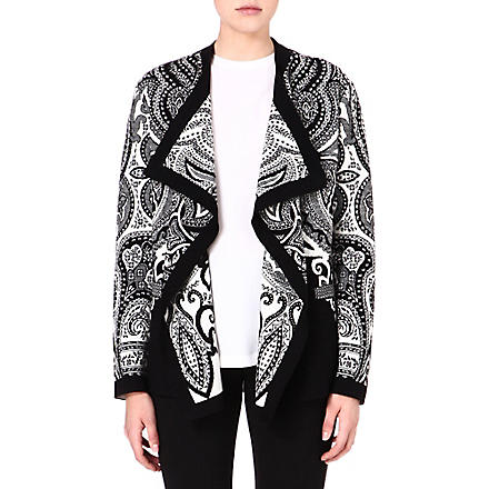 ETRO Waterfall printed jacket (Black/white