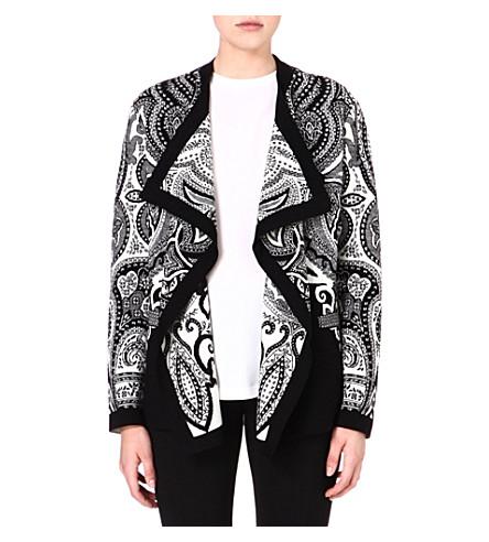 ETRO Waterfall printed jacket (Black/white